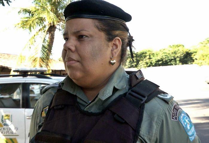 Tenente Ruthineia Freitas, do 2º Batalhão de Polícia Militar do Piauí. (Foto: Kairo Amaral)