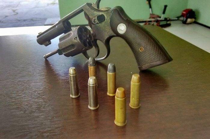 Arma utilizada na ação. (Foto: Kairo Amaral)