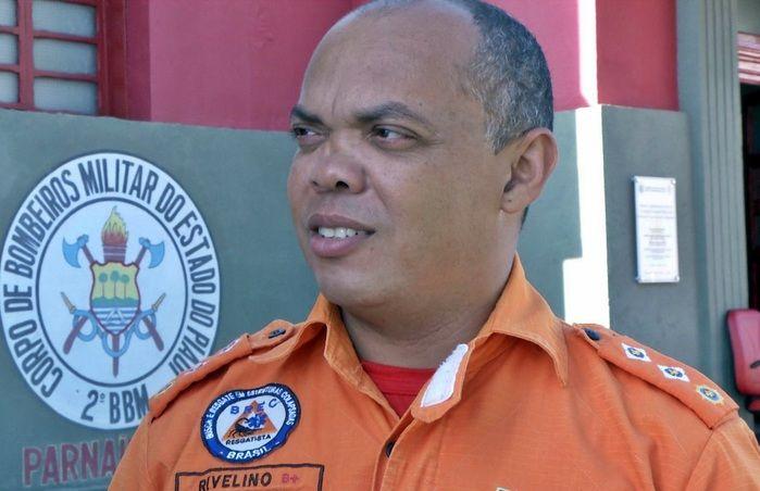 Major Rivelino Moura, comandante do Corpo de Bombeiros de Parnaíba. (Foto: João Júnior)
