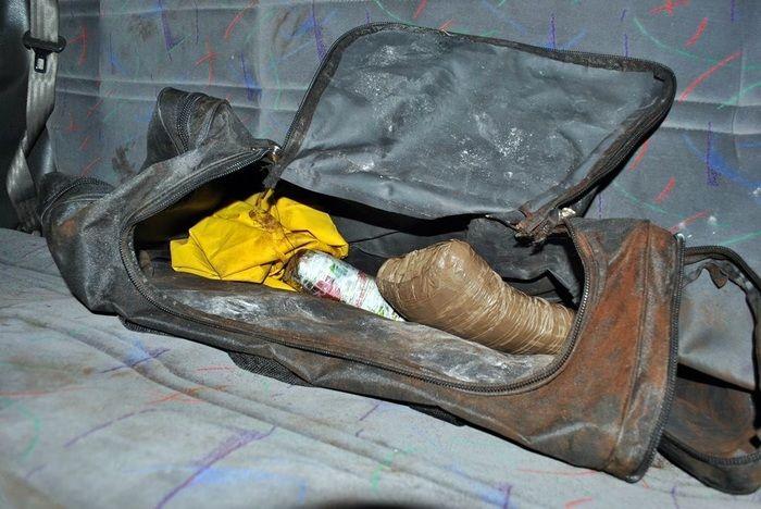 Droga estava sendo guardada dentro da Parati. (Foto: Blog do Coveiro)
