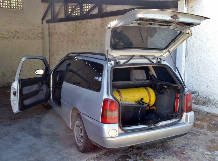 Parati que levaria a droga para a cidade de Sobral, no Ceará. (Foto: Kairo Amaral)