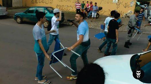 manifestação de estudantes secundaristas (Crédito: Reprodução)