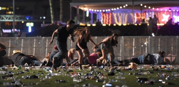 Tiroteio deixou pelo menos 20 pessoas mortas em Las Vegas (Crédito: David Becker/Getty Images/Associated Press)