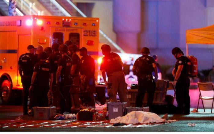 Tiroteio deixou pelo menos 20 pessoas mortas em Las Vegas (Crédito: G1)