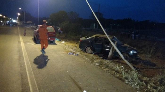 DF-475 onde ocorreu o acidente que vitimou o piauiense natural de Bom Jesus (Crédito: CBMDF)